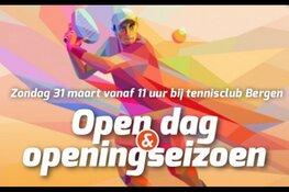 Altijd al willen tennissen? Bezoek de Open Dag TC Bergen
