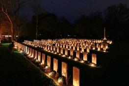 Lichtjesavond op oorlogsgraven 24 december