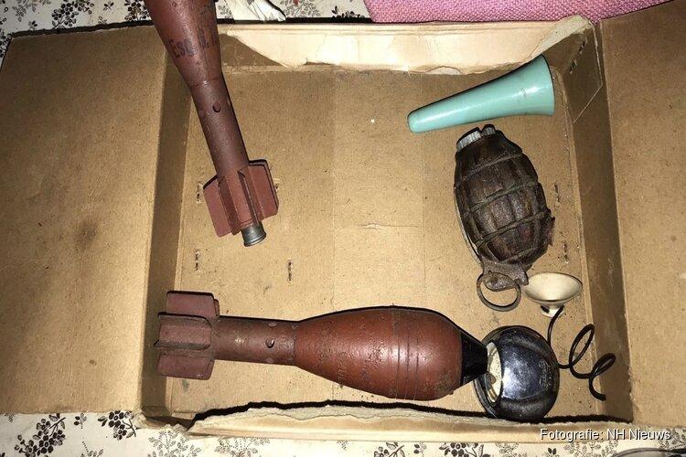 Meerdere granaten gevonden in woning Egmond aan Zee, volgens politie geen direct gevaar