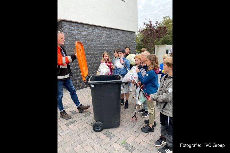 1700 schoolkinderen uit Bergen gaan plastic afval scheiden