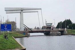 Schoorldammerbrug/Kanaalweg (N504) in Schoorldam in avond en nacht afgesloten